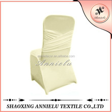 Wholesale ivory madrid spandex wedding chair cover,chair cover for banquet