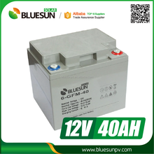 Bluesun high quality long life use 12v 100ah ups battery bank for solar system