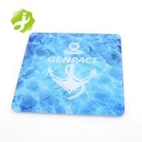 Promotion plastic blank glass coaster