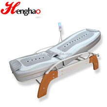 Foldable thermal jade back pain massage bed with back lift and MP3 music function folding massage bed