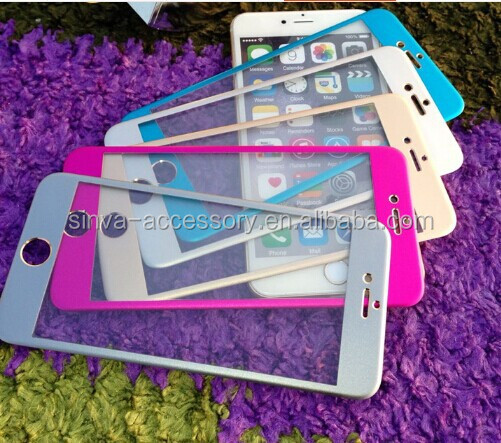 Sinva fast delivery 9H 3D Colorful 2015 for iPhone 6 Titanium AlloyTempered Glass Screen Protector