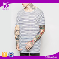 2016 new arrival 160g 97% cotton 3% spandex fashion summer plain dyed O-neck short sleeve band t-shirts