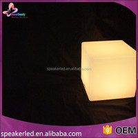 2016 New hot selling color changing RGB led cube/ led cube chair/ kids cube chair