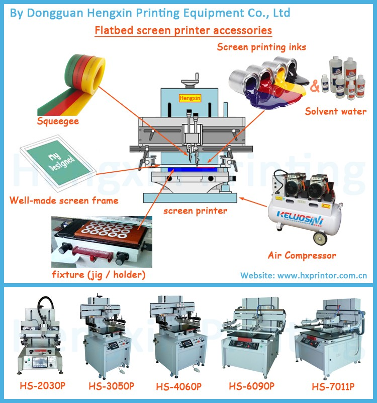 Slide work table screen printing machine