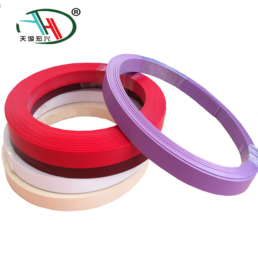 The newest high gloss tape pvc edge banding in solid color