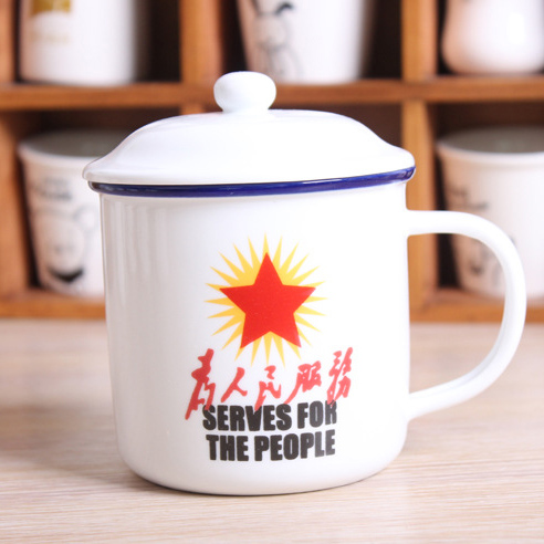 Wholesale Printed Imitation Enamel Mugs