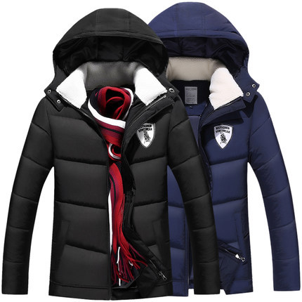 2016 winter men's casual cotton thickened young men winter coat jacket