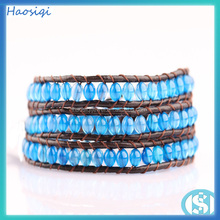 wholesale handmade 4mm round beads druzy agate bracelet
