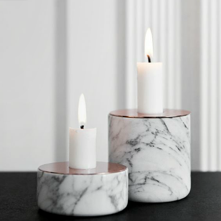 Calacatta White Marble Candle Jar/candle holder/candle stander