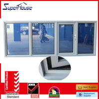AGGA certificate vinyl decorative awning window with double glass