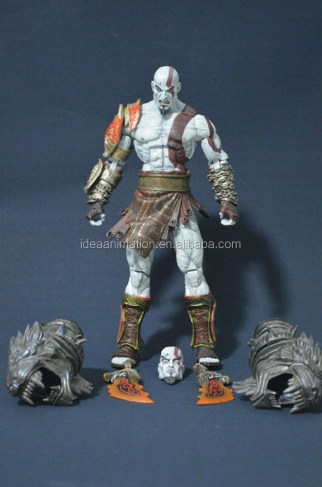OEM video game character make custom Kratos god of war movable action figure factory