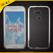 alibaba china supplier wholesale TPU clear cases For Vodafone Smart N8 VFD610