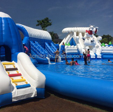 Detachable inflatable swimming pool for water park
