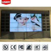 Wall mounted 60'' 6.5mm Advertising LCD Monitor, video wall 2x2 2x3 3x3 4x4