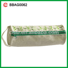 cylindrical cotton fabric children pencil case