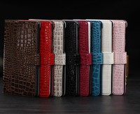 Luxury Crocodile Leather Wallet Case For Google Nexus 7 2nd Generation Magnetic Folio Leather Stand Cover