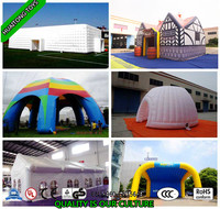 Large square outdoor inflatable tent /inflatable lawn event tent