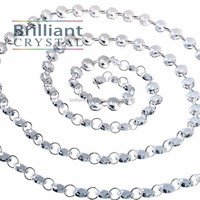 14mm Clear Glass Octagon Bead Chain