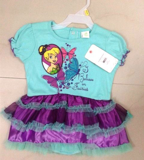 KIDS GIRLS DRESS WITH ROMPER (Garment Stock lots / Apparel Stock / stocklots / Garment Apparel from India)