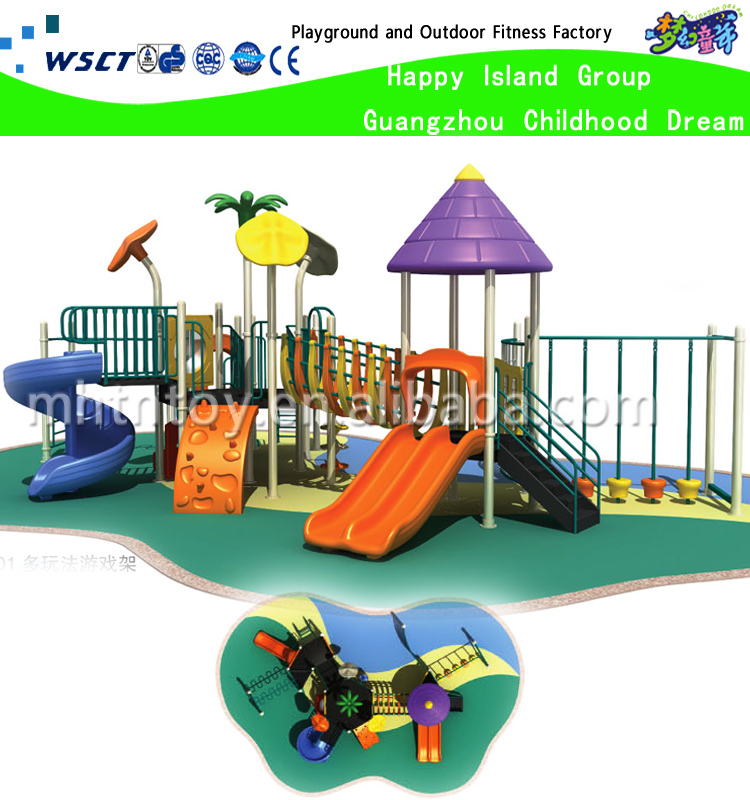 Kids garden playground swing slide for kindergarten