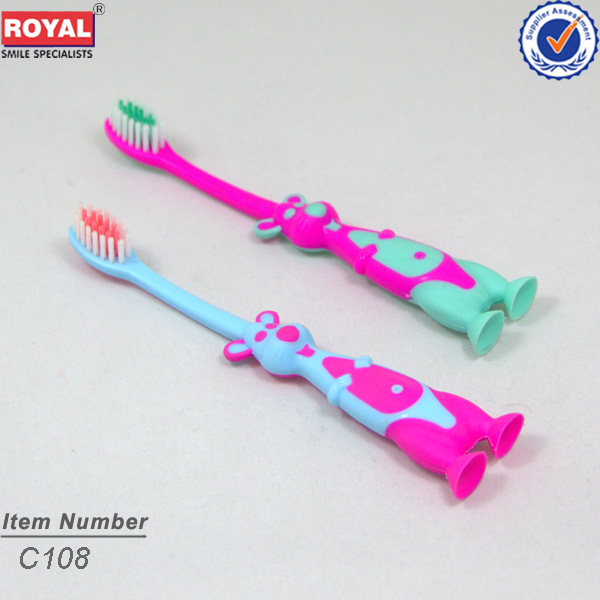 toothbrush with suction bottom