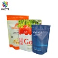Chinese supplier custom printing plastic food packaging bag stand up snack pouch with zipper