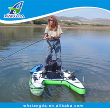 2015 China Factory High Quality Korean Mini Fly Fishing Boat Small Pontoon Boat Inflatable Belly Boat