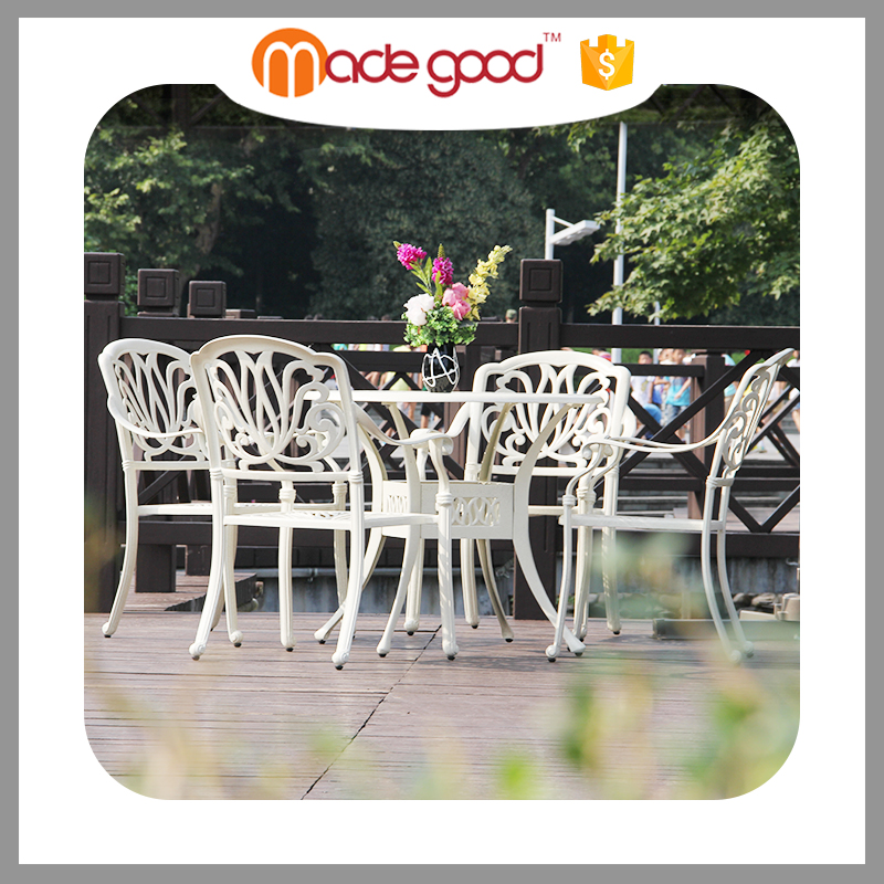 Professional Manufacturer 2017 Chinese factory Custom high quality Garden Sets alum Outdoor furniture/Alum table and chair