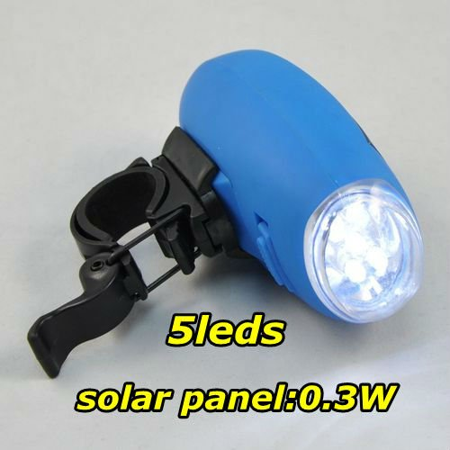 solar LED light bulb lamp,bicycle/camping light,garden LED lamp,5Leds,Blue,multi-function solar torch,Retail