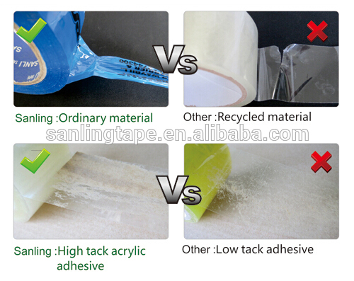 Sanling New Transparent Adhesive BOPP Packing Tape made in China