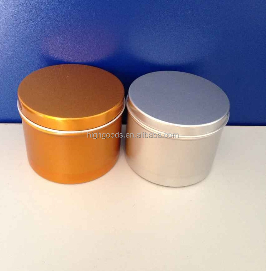 round tin box aluminum