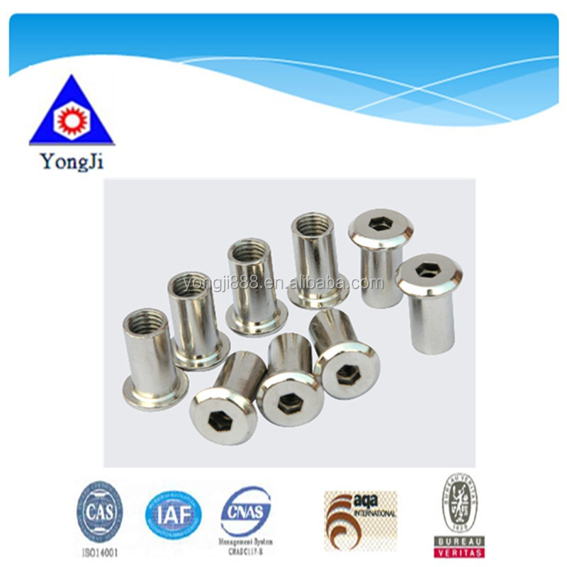 china high quality oem hardware brass garden furniture joint connector bolts cabinet nuts and bolts