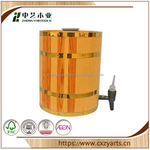 Paulownia best material factory direct supply cheap wooden tea coffee barrel