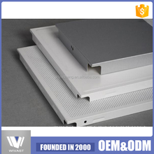 Cost price aluminum ceiling tiles fireproof pop ceiling board 300*300