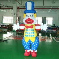 hot sell clown inflatable movable cartoon air dancers for advertising