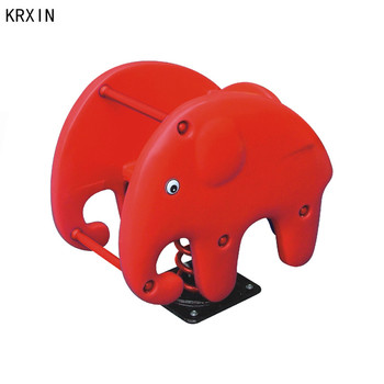 red elephant outdoor spring rocking horse for kids