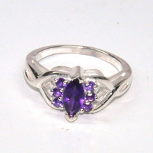 Wholesale Sterling Silver Jewelry 925 Sterling Silver Amethyst Gemstone Ring Jewelry