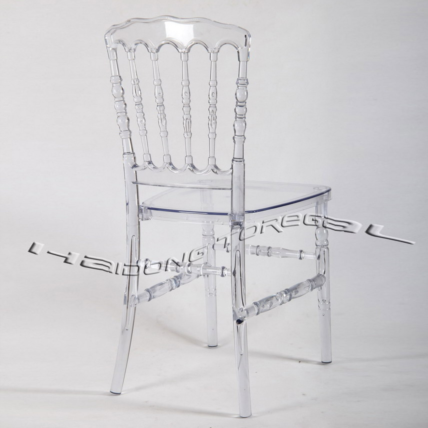 China Antique Garden Acrylic PC Resin Napoleon Wedding Chairs