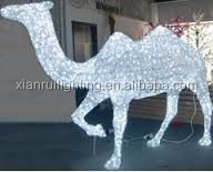 Led camel lighting life size christmas decorations
