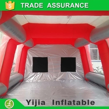 Inflatable infrared paint booth heaters