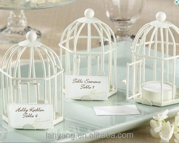 Love Songs White Black Mini Birdcage Tea Light Place Card Holders