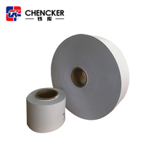 Customized or a4 size blank round waterproof eggshell woodfree paper sticker roll