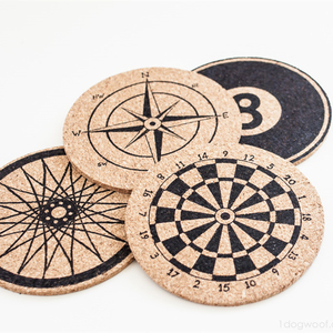 Eco friendly Water pine wooden cork drink coaster table mat