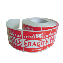 Printing Factory Directly Adhesive Paper Material 4x3 Fragile Label, This Way Up Shipping Mailing Handle with Care Stickers