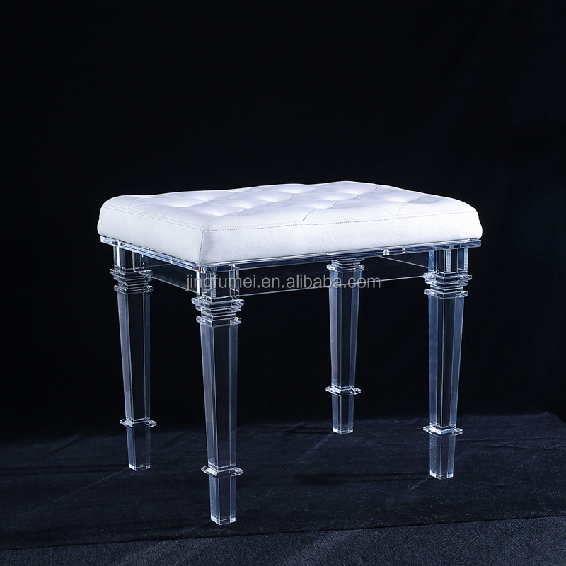 Modern and Elegant Lucite Bar Chair Acrylic Used Plastic Stacking Adjustable bar stool