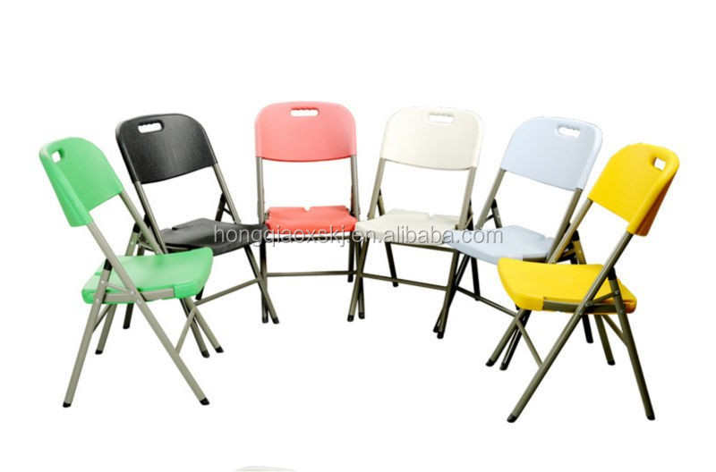 HDPE plastic folding chair, lightweight easy carry folding chair for outdoor furniture, dinning chairs with folding feet