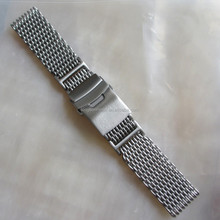 strong 4mm thick mesh watch bands double deployment clasp