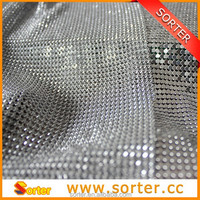 Silver metallic vertical blinds, sequin cloth