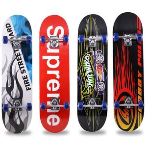 31Inch Skateboard complete7 layer chinease maple wood double kick concave skate board four wheel skate board