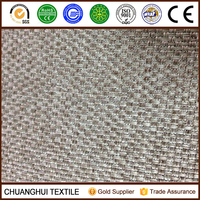 100% polyester linen look like blackout fabric hotel office curtain fabric